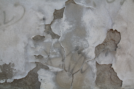 overbuilding: Two-color concrete wall texture with ruined plaster