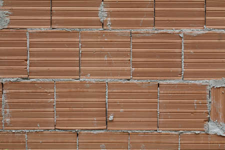 cemented red brick texture