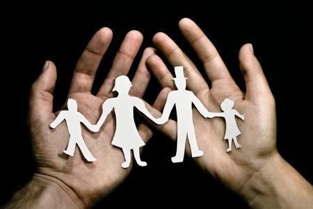 demografia: Familia corte de papel Foto de archivo