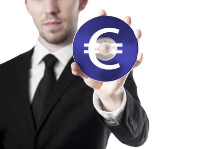creador: hombre con cd euro