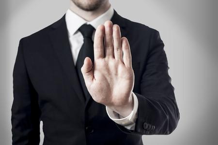 hand stop Standard-Bild