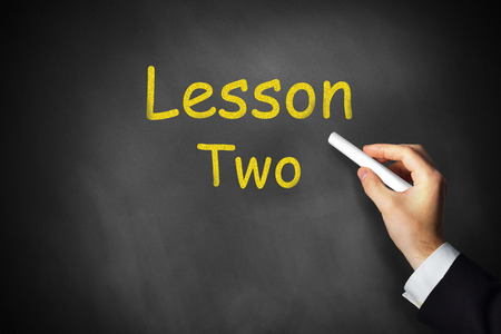 additional training: hand writing lesson two on chalkboard