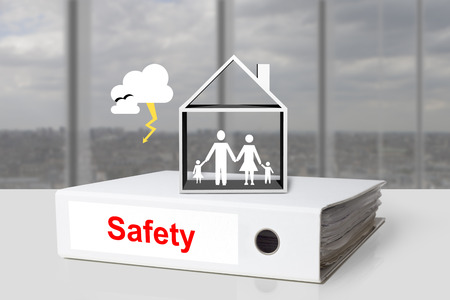home safety: office binder safety family home storm