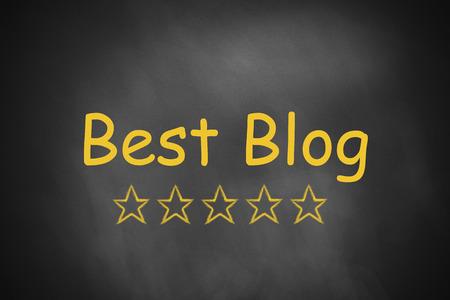 web crawler: best blog black chalkboard golden rating stars