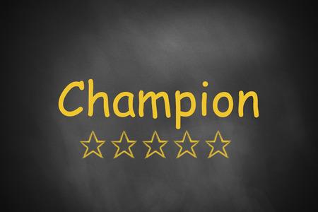 proved: lavagna nera vincitore campione di stelle d'oro