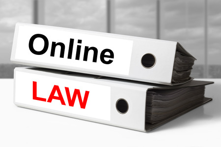 statute: stack of white office binders online law