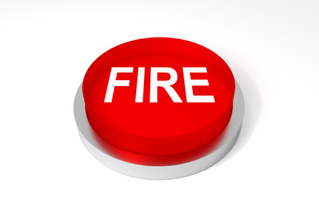 red round button on white surface fire emergency photo