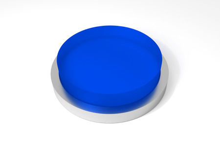 big round blue button on white surface 版權商用圖片