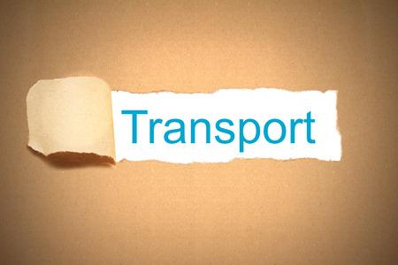 reveal: brown envelope paper torn to reveal transport