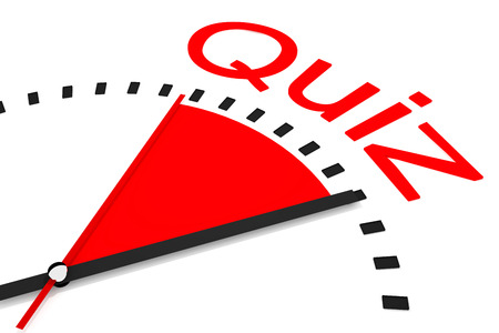 trivia: clock with red area countdown quiz illustration