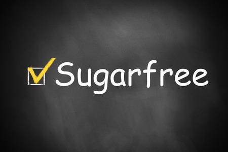 checkbox: black chalkboard checkbox checked sugarfree Stock Photo
