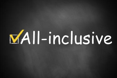 inclusive: black chalkboard checkbox checked all inclusive