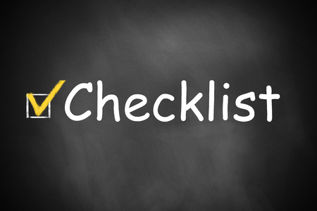 free vote: black chalkboard with checkbox checklist