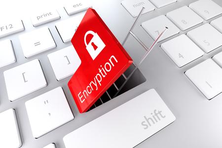sourcecode: keyboard enter key revealing underpass ladder encryption 3d illustration Stock Photo