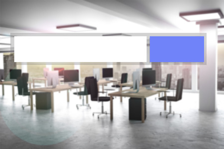 appartment: blue modern web search button office appartment 3d illustration Stock Photo