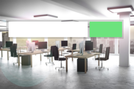 appartment: green modern web search button office appartment 3D illustration