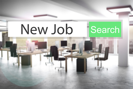 search button: websearch new job green search button modern office 3D Illustration