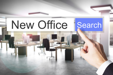 new opportunity: websearch new blue search button modern office 3D Illustration