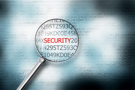 sourcecode: reading the word security browser search 3D Illustration