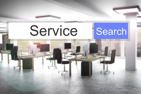 domains: websearch service blue search button modern office 3D Illustration