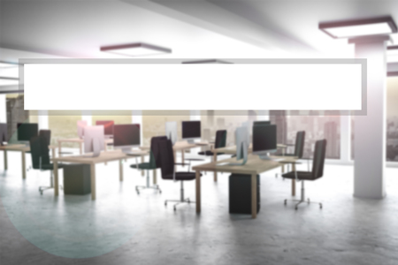 virtual white search bar in large clean office interior 3d rendering 版權商用圖片