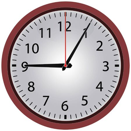 Clock icon. Element for web design and other purposes.