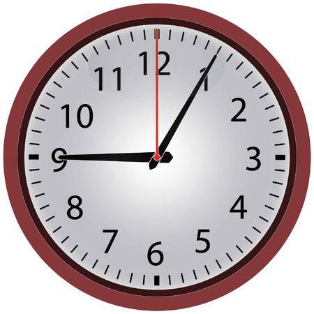 Ikona zegara. Element do projektowania stron internetowych i innych celów.