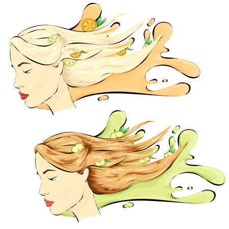 blondie: Healthy hair, hair care shampoo two variants blondie and brown-haired
