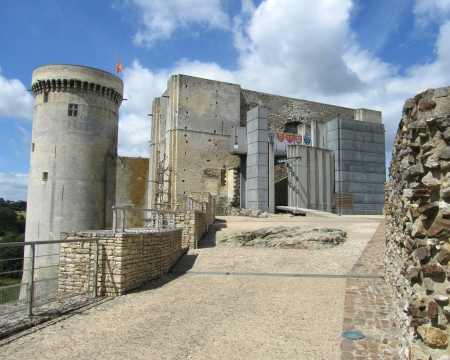 conqueror: The imposing childhood home of William the Conqueror in Falaise in Normandy, France