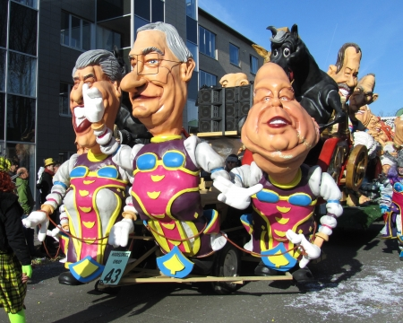 recognised: Aalst, Belgium -  February 20th, 2012- A colorful float from the annual carnival parade. The Carnival is recognised by UNESCO as an event of Intangible Cultural Heritage.                               Editorial