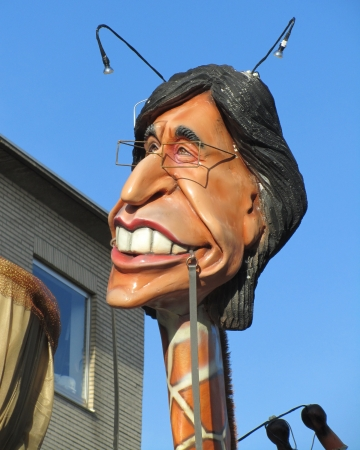 intangible: Aalst, Belgium -  February 20th, 2012 - A caricature of Belgian Prime Minister Elio Di Rupo during the annual carnival parade. The Carnival is recognised by UNESCO as an event of Intangible Cultural Heritage. Editorial