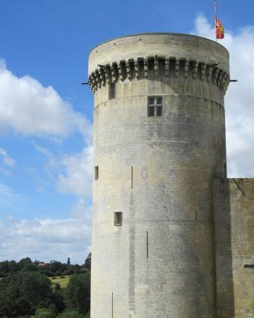 turret: Ancient Castle Turret    A norman castle turret with battlements  Editorial