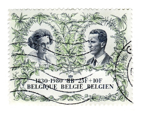 baudouin: Belgium, May 31st 1980: Special stamp issued to celebrate the 150th anniversary of Belgian Independence.
