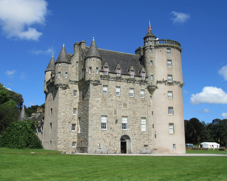 the national trust: INVERURIE, SCOTLAND, AUGUST 3 2014  Castle Fraser a baronial castle dating back to the 15th century  Situated in Aberdeenshire, and now run by the National Trust it is a popular tourist destination