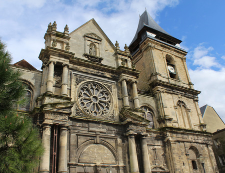 17th: An exterior view of the 17th century church of St Remy in Dieppe, situated in Normandy in Northern France.