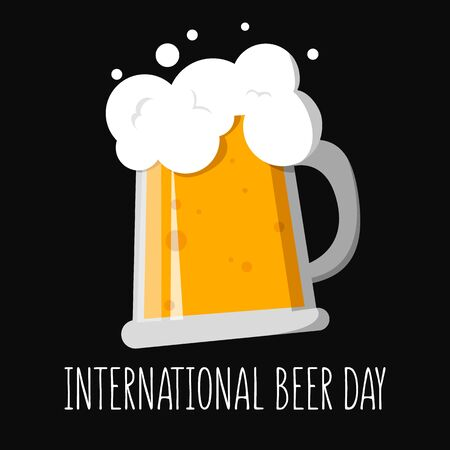 International beer day greeting card design. Alcohol drink