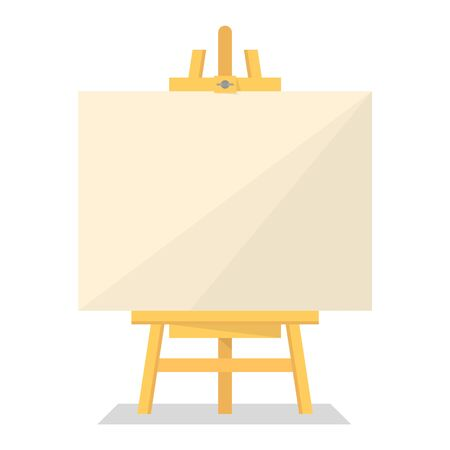 Wooden easel vector isolated. Blank paper board. Empty poster for the announcement. Creative display. Vectores