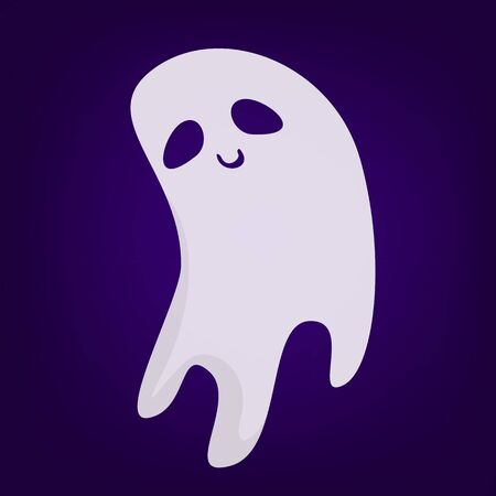 Halloween ghost vector isolated. Mystery and darkness. Spooky fantasy demon, horror and fear.