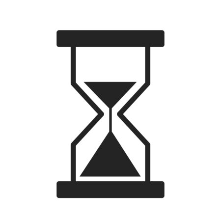 Sandglass line icon vector isolated. Symbol of hourglass. Time countdown, wait a moment sign. Çizim
