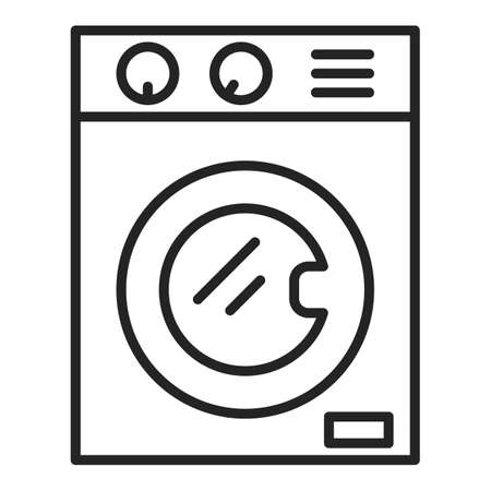 Washing machine icon vector isolated. Outlined symbol of household appliance. Clothes washer. Modern electrical equipment.