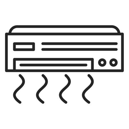 Air conditioner icon vector isolated. Electric tool for temperature control. House ventilation system.