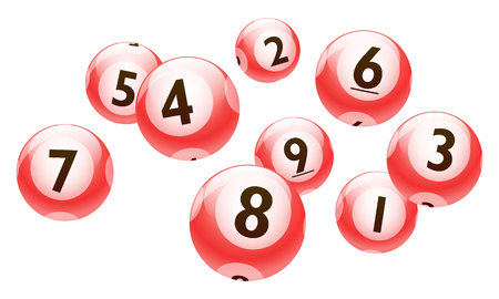 ball point: A vector Bingo or lottery number 1 to 9 balls set.=