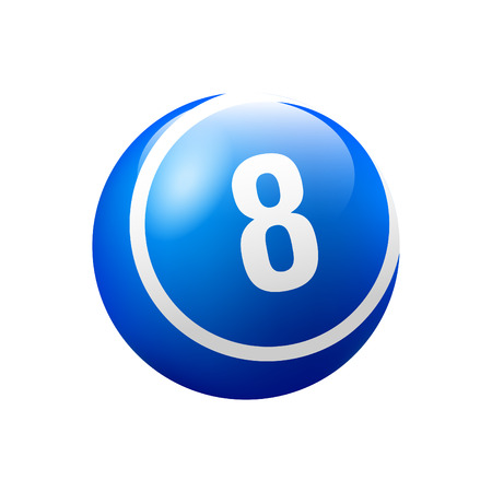 Vector Bingo / Lottery Number Ball - No. 8 Archivio Fotografico - 88315956