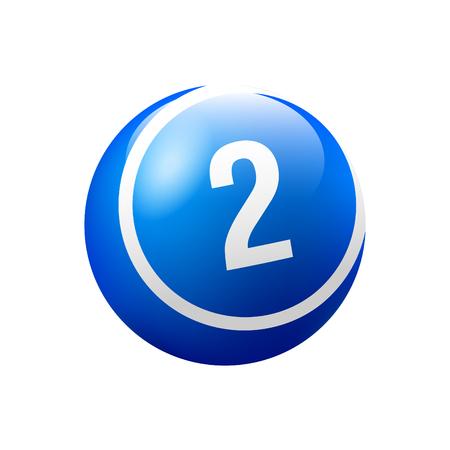 Vector Bingo / Lottery Number Ball - No. 2