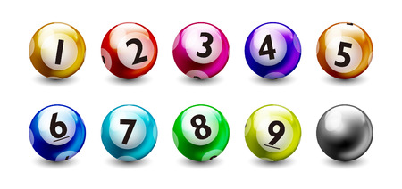 Lottery Colorful Number 1 to 9 Balls Set