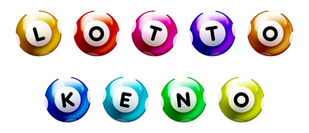 Colored Balls with text LOTTO and KENO
