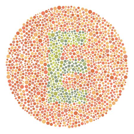 Daltonism Ishihara Test Red and Green Upper Letter E 矢量图像