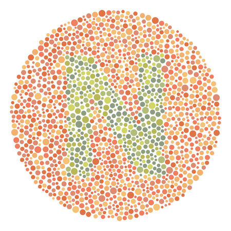 Daltonism Ishihara Test Red and Green Upper Letter N