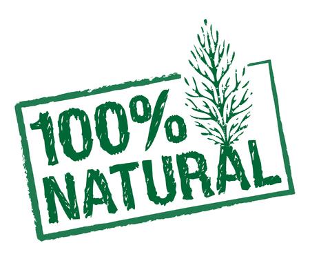 green natural ingredients stamp