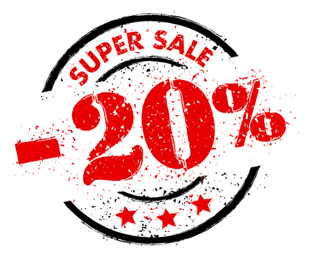SUPER SALE 20% OFF rubber stamp grunge style